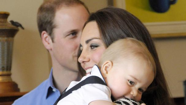 William will seek the Duchess of Cambridge's permission before he takes Prince George to his first Aston Villa match