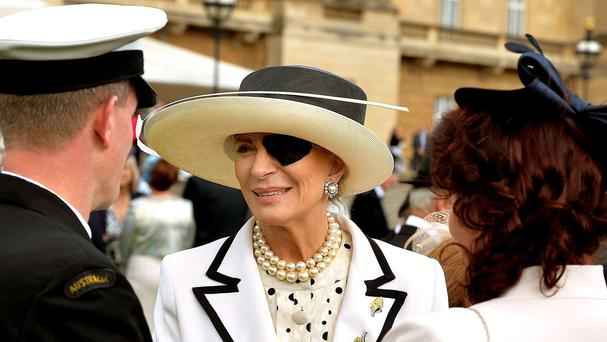 Princess Michael of Kent wore a patch on her eye at the garden party