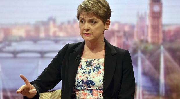 Labour leadership contender Yvette Cooper appears on BBC One's The Andrew Marr Show (BBC)