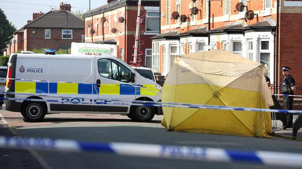 The scene in Beard Road in Gorton, Manchester, where Jordan Begley, 23, was hit with a Taser by police