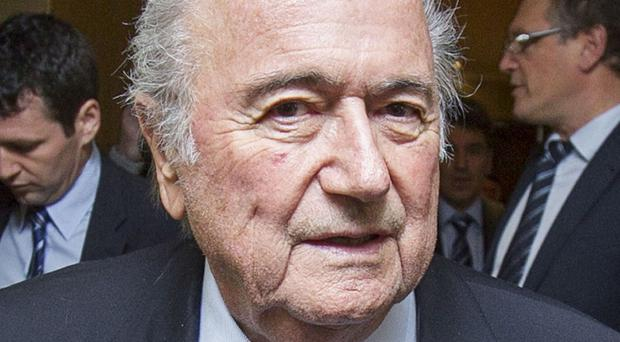 Sepp Blatter had been under huge pressure to step down as Fifa president