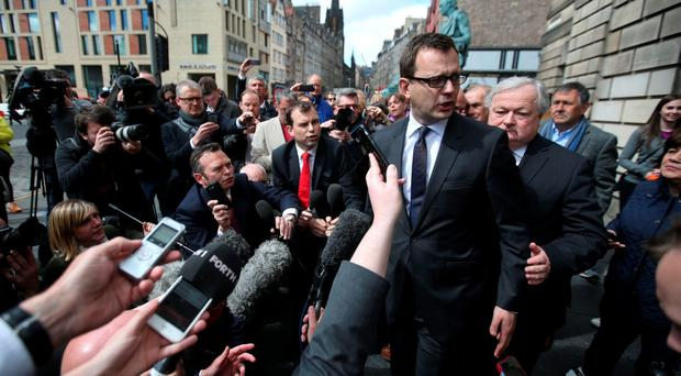 Former News of the World editor Andy Coulson outside court yesterday