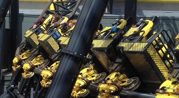 Four people were seriously injured after two carriages collided on Alton Towers rollercoaster The Smiler (@_ben_jamming/PA)