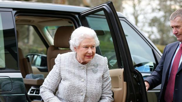 The Queen attending a meeting of the Sandringham WI earlier this year