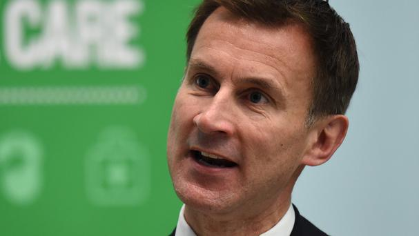 Health Secretary Jeremy Hunt was speaking to the NHS Confederation