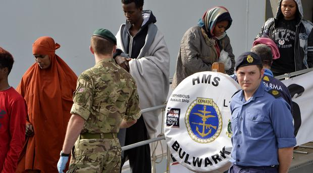 HMS Bulwark was heading towards Libya to again rescue migrants trying to make the dangerous trip across the Mediterranean