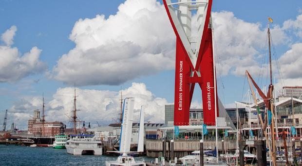 An artist's impression of the rebranding of the Spinnaker Tower in Portsmouth