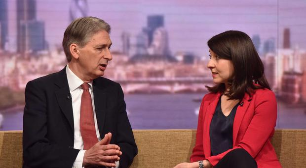 Foreign Secretary Philip Hammond and Labour leadership contender Liz Kendall appear on BBC One's The Andrew Marr Show (BBC)