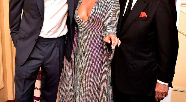 Prince Harry with Lady Gaga and Tony Bennett at last night's charity concert