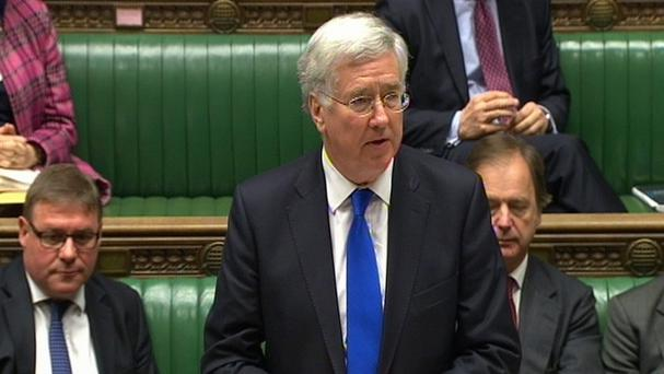 Defence Secretary Michael Fallon.