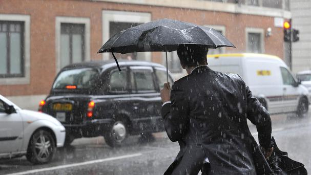 The wetter weather hit retail sales, according to a report