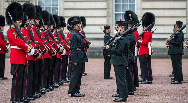 The Royal Regiment of Gurkhas participated in the Changing of the Guard at Buckingham Palace as they celebrate 200 years of service in the British Army