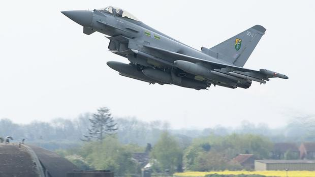 Four RAF Typhoons have been deployed to the Baltic states