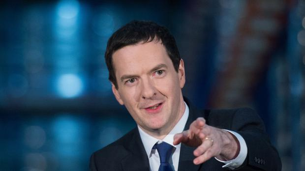 Chancellor of the Exchequer George Osborne RBS sell-off in his annual Mansion House speech