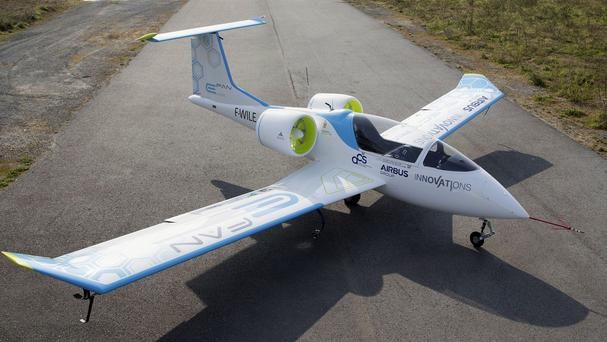 The Airbus E-Fan 2.0 electric protoype plane, which will be on display at the Paris Air Show