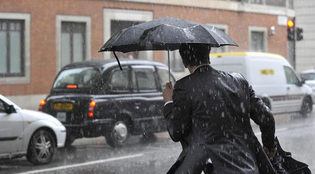 The predicted thunderstorms could lead to severe downpours