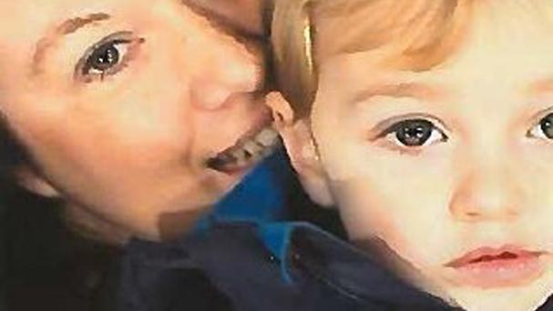 BEST QUALITY AVAILABLE Undated handout picture issued by Avon & Somerset Police of Rebecca Minnock and her three-year-old son Ethan, as the pair have gone into hiding after a judge ruled the boy should be handed over to his father.