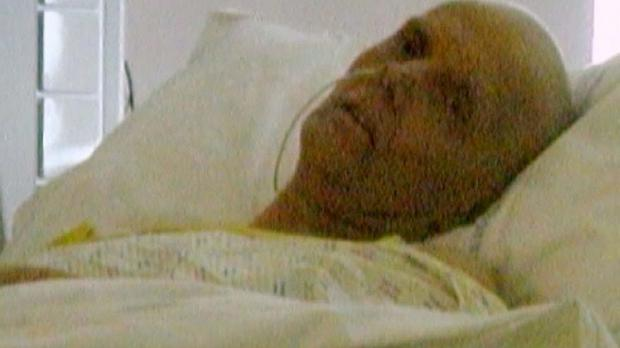 The last photo taken of poisoned spy Alexander Litvinenko alive, in which he is seen lying gaunt in a hospital bed