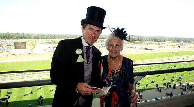 Tony McCoy with Dora Franklin, who celebrates her 100th birthday next week