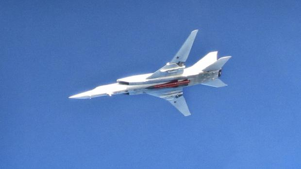 A Russian Tu22 Backfire bomber (Ministry of Defence)