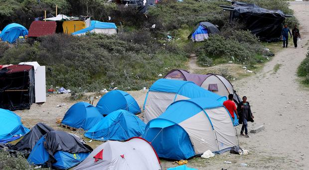 A general view of the migrant camp near Calais known as the
