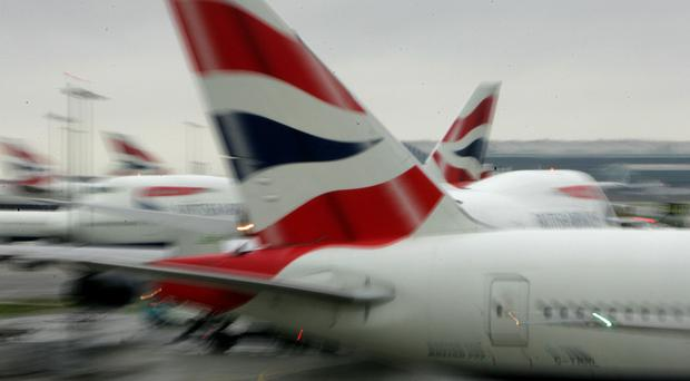 The British Airways plane was flying from South Africa to Heathrow