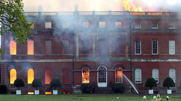 Firefighters battle the devastating blaze at Clandon Park