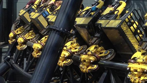 The aftermath of the The Smiler rollercoaster collision (Twitter feed of @_ben_jamming/PA)