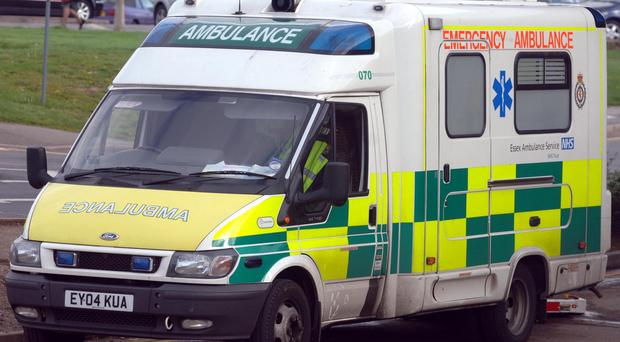 Four children and a woman in her thirties believed to be their mother suffered life-threatening injuries in a road crash after a car hit them at high speed