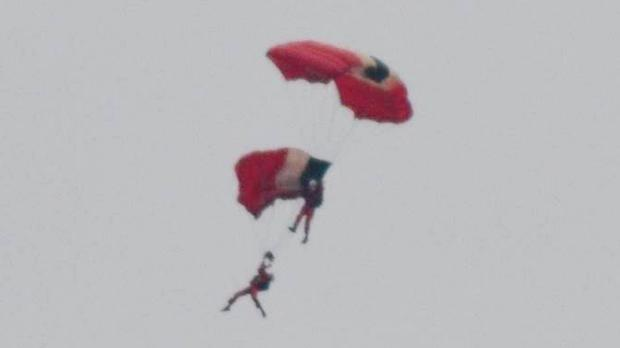 Members of the British Army freefall parachute display team the Red Devils (Stephen Miller/PA)