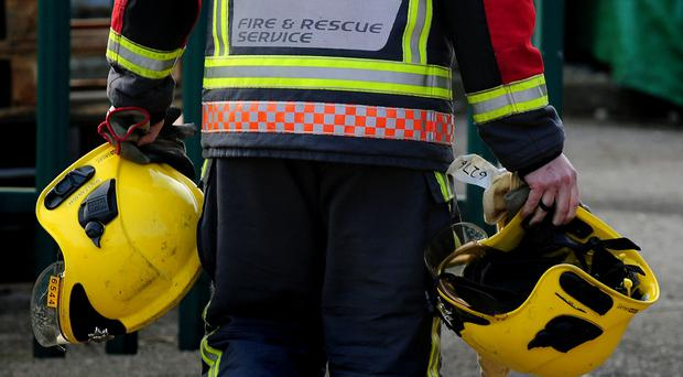 Firefighters were called to the scene during the early hours of Sunday morning