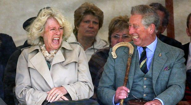 The Prince of Wales and the Duchess of Cornwall, pictured at the Mey Highland games in Caithness, will visit Edinburgh today