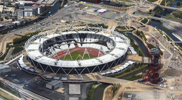 The Olympic Stadium is being transformed for a venue for the 2015 Rugby World Cup