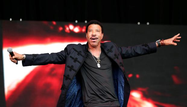 Lionel Richie enjoyed an enthusiastic reception