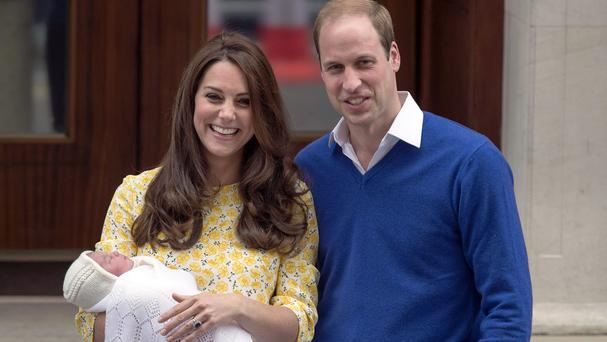 The Duke and Duchess of Cambridge and newborn Princess Charlotte