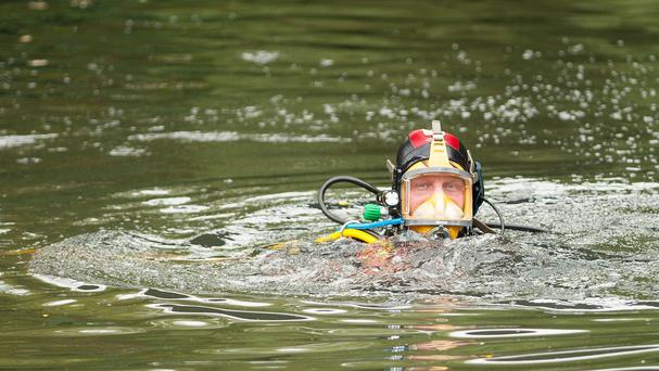 Police divers were called in to search for the man in the River Esk