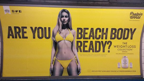 The Protein World advert sparked hundreds of complaints