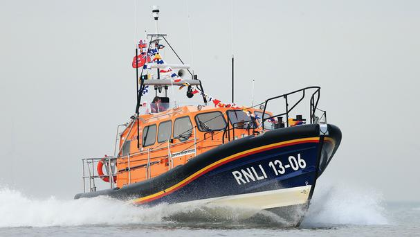 An RNLI crew rescued a woman from drowning at Blackpool