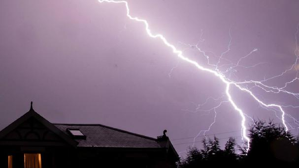 Two people are in hospital after being hit by lightning
