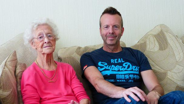 Stephen Blakeburn, 50, from Darlington, with his mother, Jenny, 86 (Alzheimer's Society/PA)