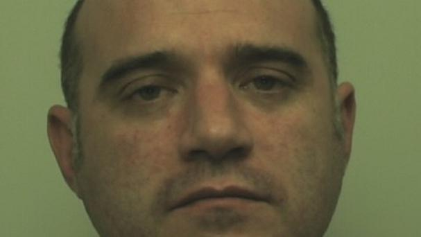 Iain Montgomery showed no emotion as he was jailed at Stafford Crown Court for murdering Tina Montgom