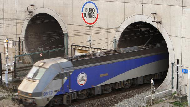 Eurotunnel services have been partly suspended