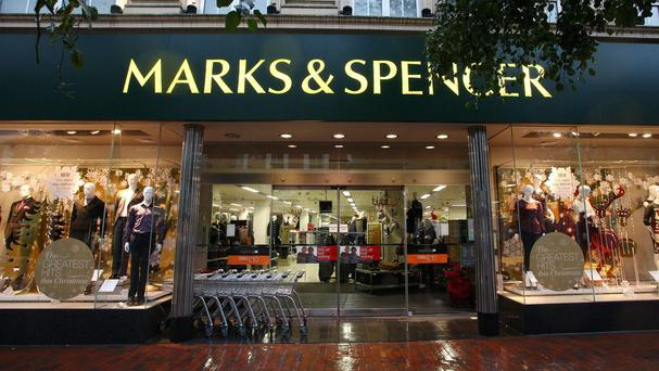 Marks & Spencer posted a drop in quarterly clothing sales