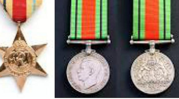 Service medals belonging to William Fearn which were stolen by burglars (West Midlands Police)