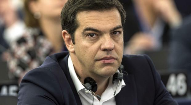 Alexis Tsipras at the European Parliament on Wednesday (AP)