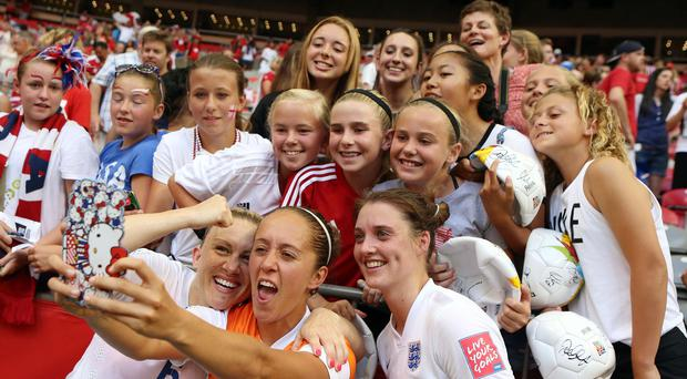 England Women's footballers are attending a palace reception