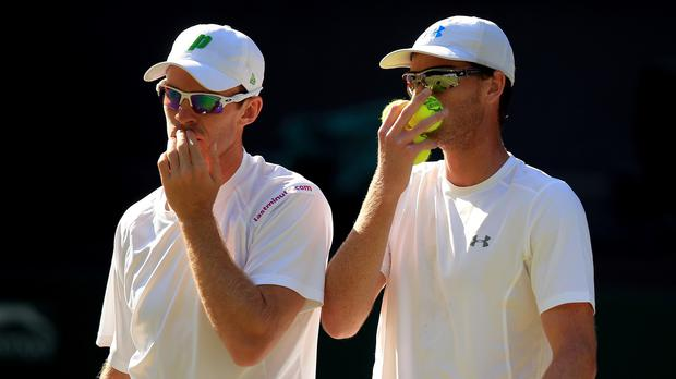 Jamie Murray (right) and John Peers are through to the men's doubles semi-final