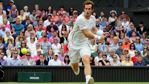 Andy Murray is hoping for good crowd support in his semi-final clash with Roger Federer