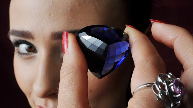 A Tanzanite gemstone is among the lots to be sold