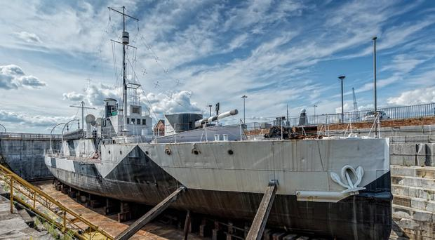HMS M.33, the only surviving ship from the Gallipoli Campaign in the First World War